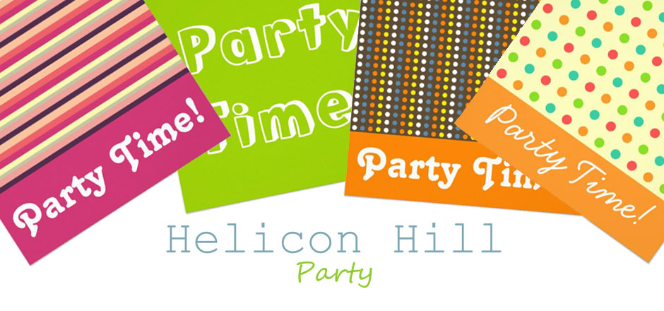 helicon hill party shop banner